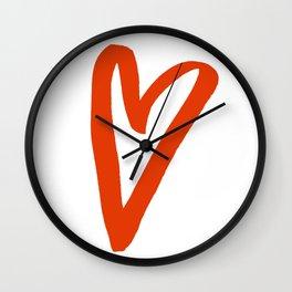 Heart Doodle Big 2 Wall Clock