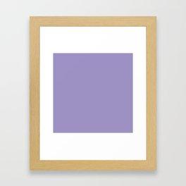 Flowering Violet (Purple) Color Framed Art Print