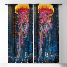 Electric Jellyfish Worlds in  New York Blackout Curtain