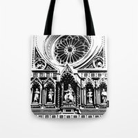 florence Tote Bags featuring Florence by Mad Love
