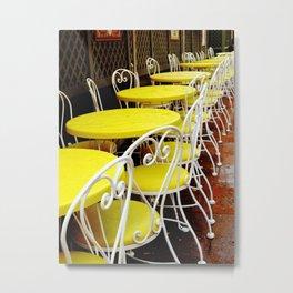 Outdoor Cafe Metal Print
