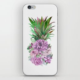 Floral Pineapple 1 iPhone Skin