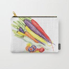Rainbow Heirloom Carrots Carry-All Pouch