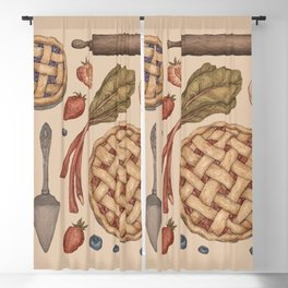 Pie Baking Collection Blackout Curtain