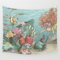 underwater Wall Tapestries featuring Underwater by Samantha Kay Davies