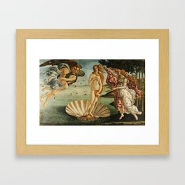 "Sandro Botticelli ""The Birth of Venus"" 1. Framed Art Print"