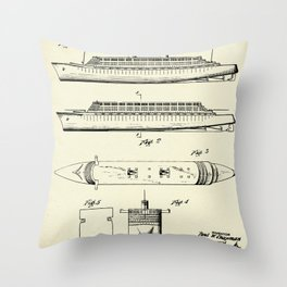 Steamship-1937 Throw Pillow