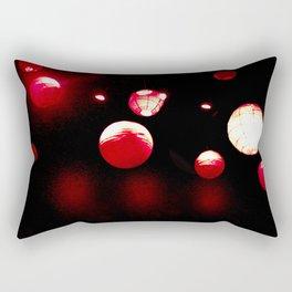 Crimson Orbs Rectangular Pillow