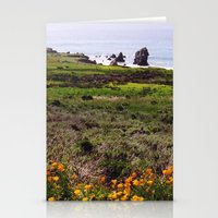 big sur Stationery Cards featuring Big Sur by Flysmile