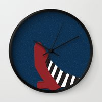 oz Wall Clocks featuring Oz shoe by Priscylla Cabral