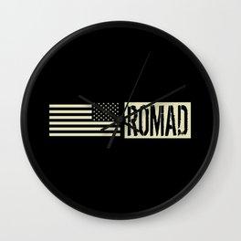 ROMAD (Black Flag) Wall Clock
