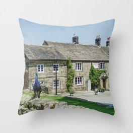 Strines Inn Throw Pillow