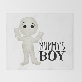 Mummy's Boy Throw Blanket