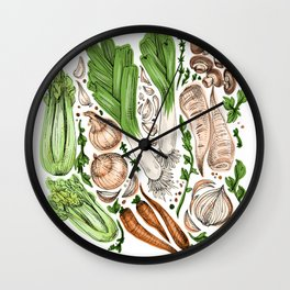 Vegetables Wall Clock