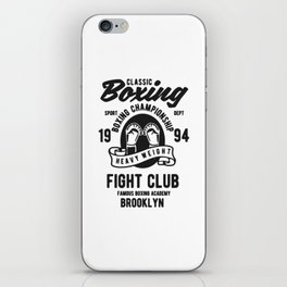 clasic boxing club iPhone Skin