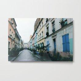 Rue Crémieux Houses Metal Print