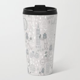 Alien visit to London Travel Mug