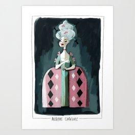 Madame Carnivale Art Print