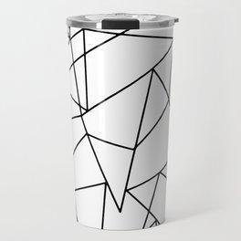 Simple Modern Black and White Geometric Pattern Travel Mug