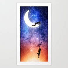 Come stargazing with me Art Print