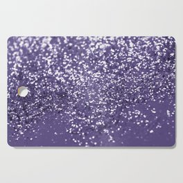 Sparkling ULTRA VIOLET Lady Glitter #1 #shiny #decor #art #society6 Cutting Board