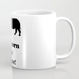 Stop poaching rhinos!! Coffee Mug