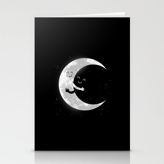Moon Hug Stationery Cards