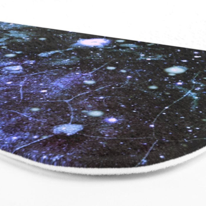 Chaotic Space : Galaxy Periwinkle Blue Lavender Gray Bath Mat