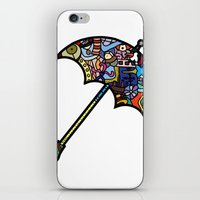 mary poppins iPhone & iPod Skins featuring Mary Poppins by Ilse S