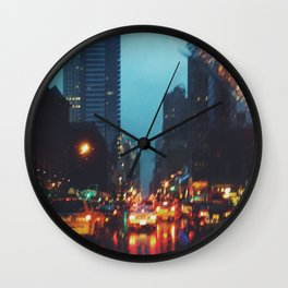Rainy NYC Wall Clock
