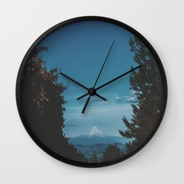 Mount Hood II Wall Clock