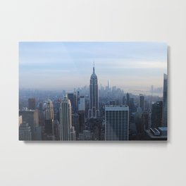 New York City in Outline Metal Print