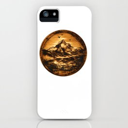 Wood-burn Wanderlust iPhone Case