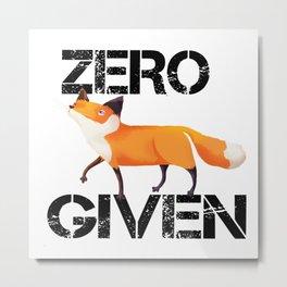 Zero Fox! Metal Print