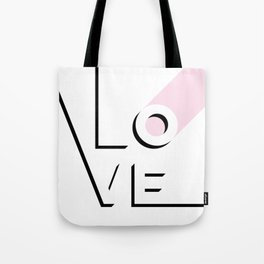 True Love Never Ends - black, white & pink #love Tote Bag