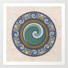 Ninth Wave Shield Art Print
