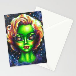 Iconic Alien Women: Marilyn Stationery Cards