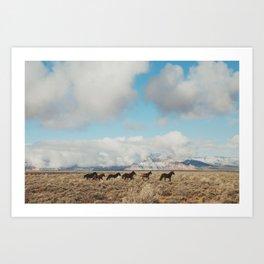 Running Reservation Horses Art Print