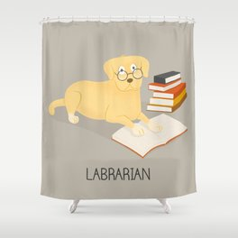 The Labrarian Shower Curtain