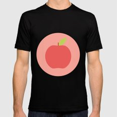 #65 Apple MEDIUM Black Mens Fitted Tee