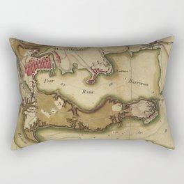 Vintage Map of Baltimore MD (1781) Rectangular Pillow