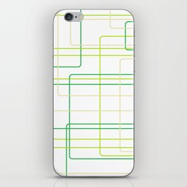 Green Line Pattern iPhone Skin