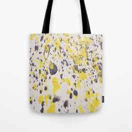 Yellow Grey Classic Abstract Art Tote Bag