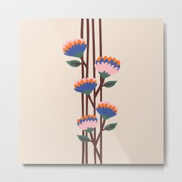 Henri Flowers Metal Print