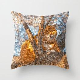 Ginger Cheshire Cat Throw Pillow