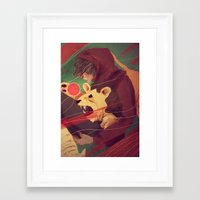 courage Framed Art Prints featuring Courage by James M. Fenner