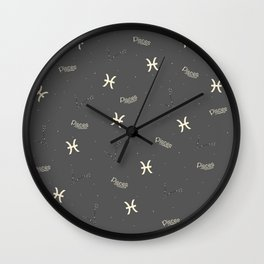 Pisces Pattern Wall Clock