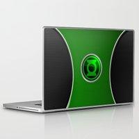 green lantern Laptop & iPad Skins featuring Green Lantern by Thorin