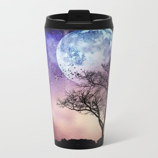 mOOn treE Metal Travel Mug