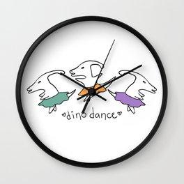 Dino Dance in Colour Wall Clock